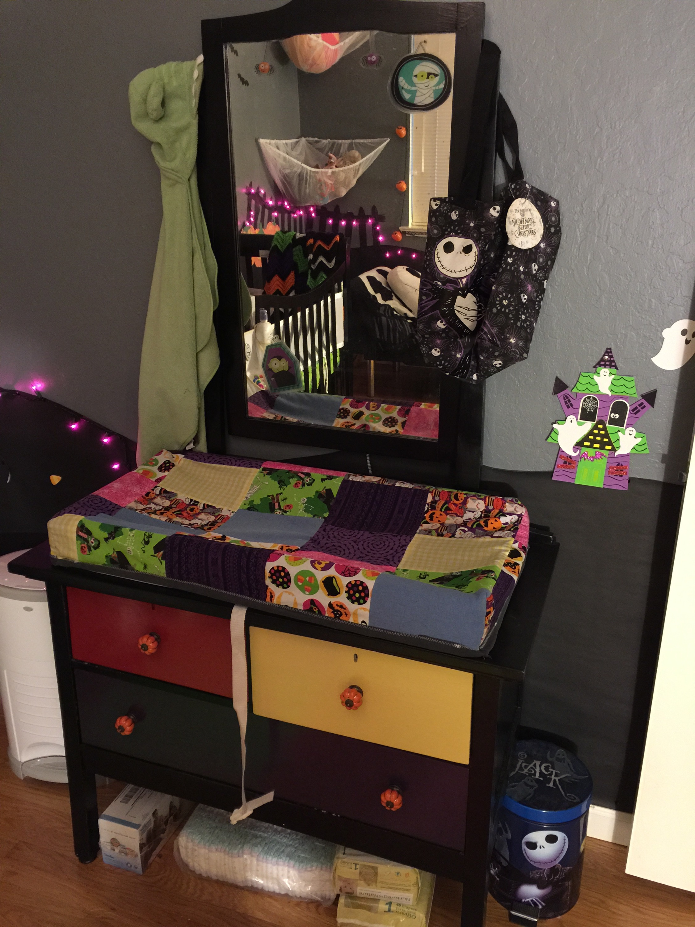 Nightmare before christmas nursery on a budget the brain squirrel nightmare before christmas nursery on a budget solutioingenieria Gallery